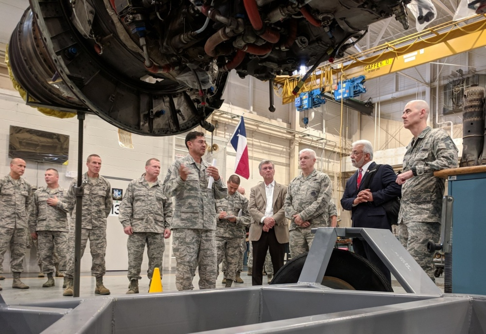 DANG visits the 136th Airlift Wing